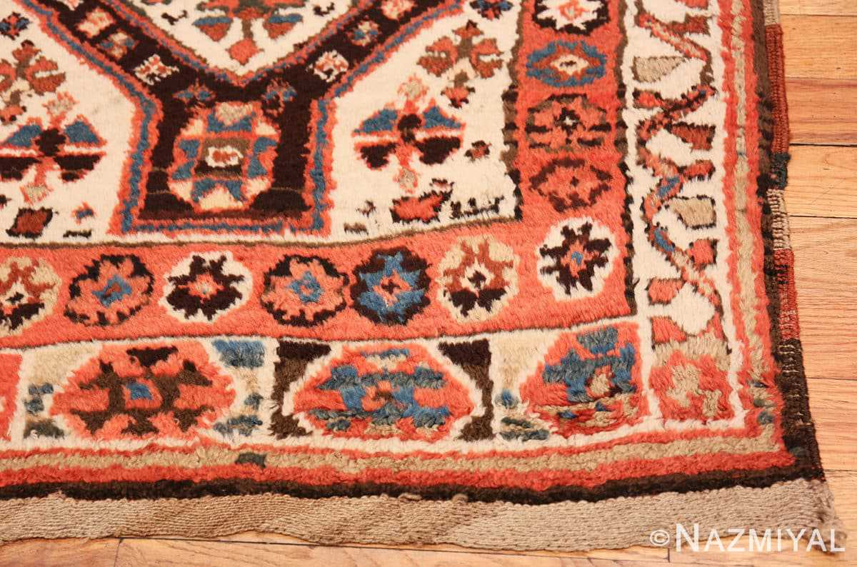 Corner Antique Persian Tribal Kurdish rug 47448 by Nazmiyal