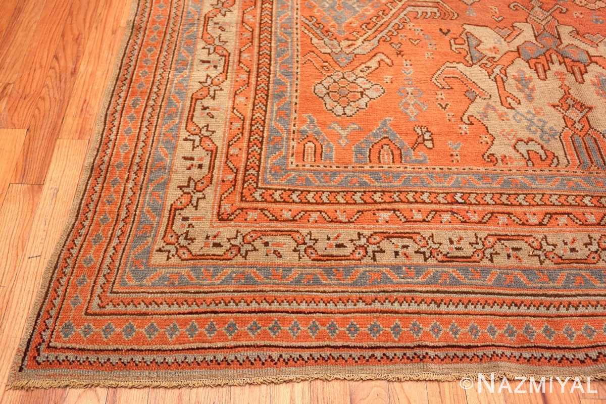 Corner Large Antique Turkish Oushak rug 47426 by Nazmiyal