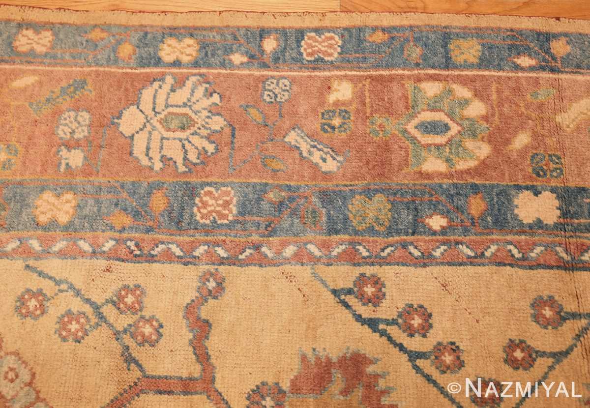 decorative vintage turkish oushak rug 47402 border Nazmiyal