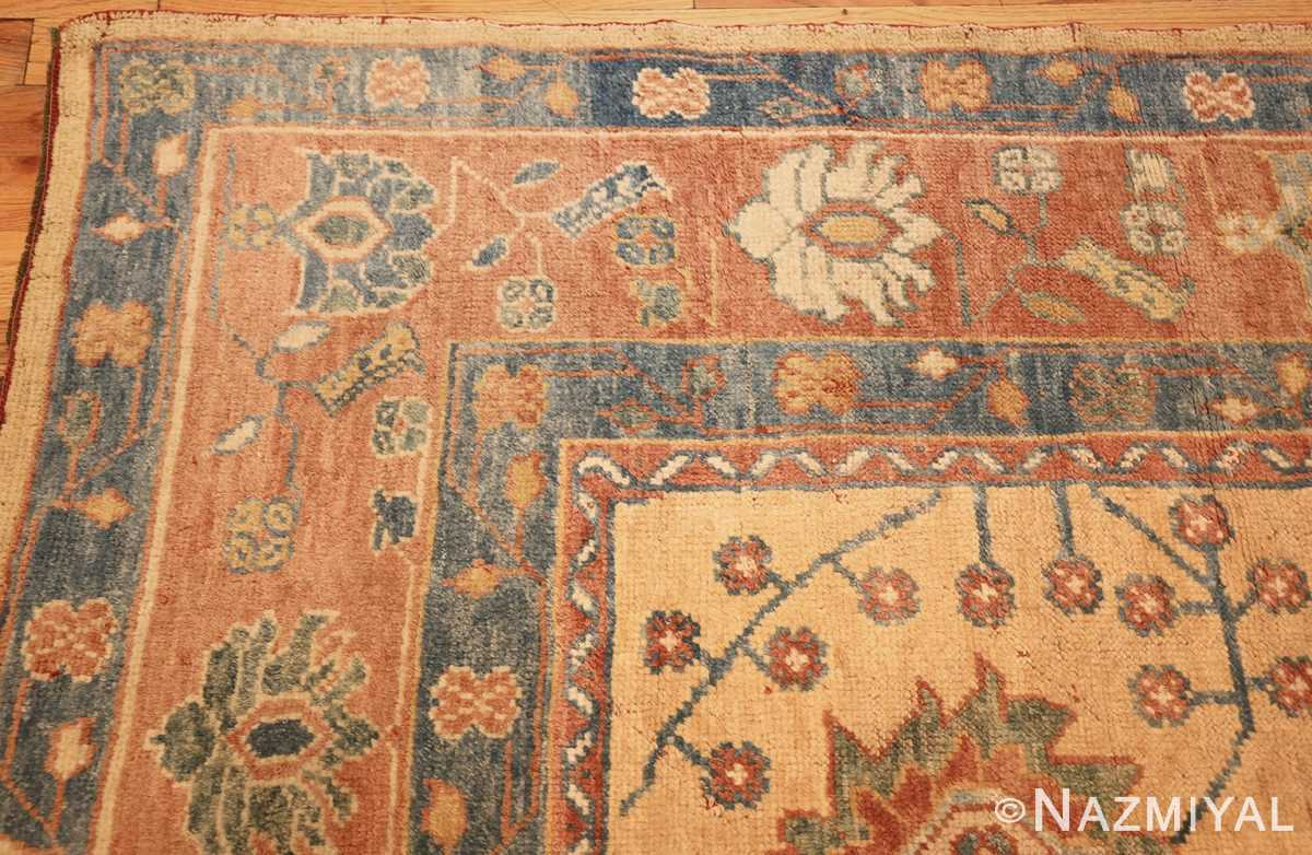 decorative vintage turkish oushak rug 47402 corner Nazmiyal