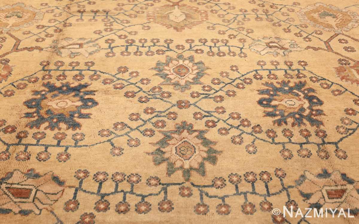 decorative vintage turkish oushak rug 47402 field Nazmiyal