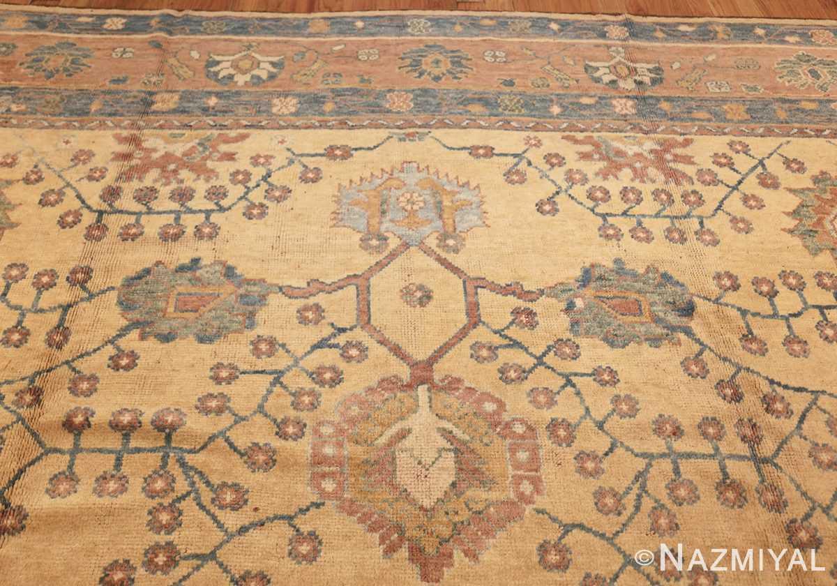 decorative vintage turkish oushak rug 47402 top Nazmiyal