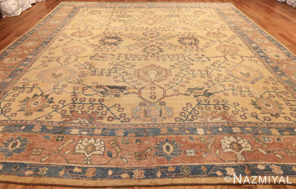 decorative vintage turkish oushak rug 47402 whole Nazmiyal