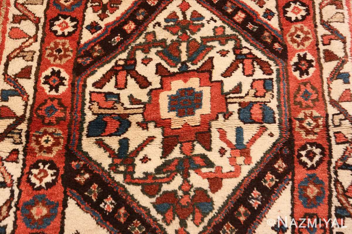 Detail Antique Persian Tribal Kurdish rug 47448 by Nazmiyal