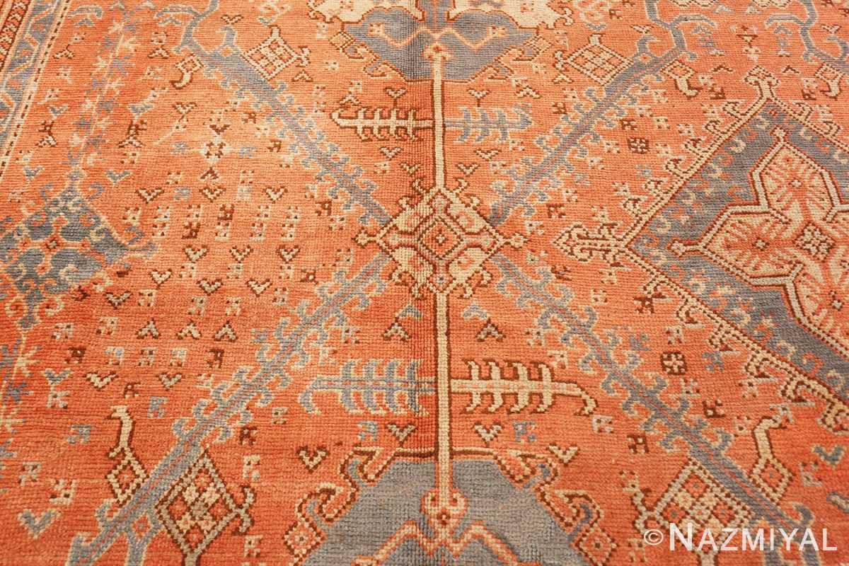 Detail Large Antique Turkish Oushak rug 47426 by Nazmiyal