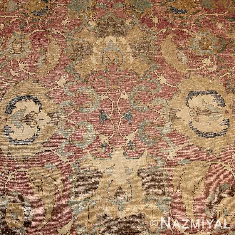 Detailed picture of antique 17th century Persian Isfahan Carpet #44889 From Nazmiyal