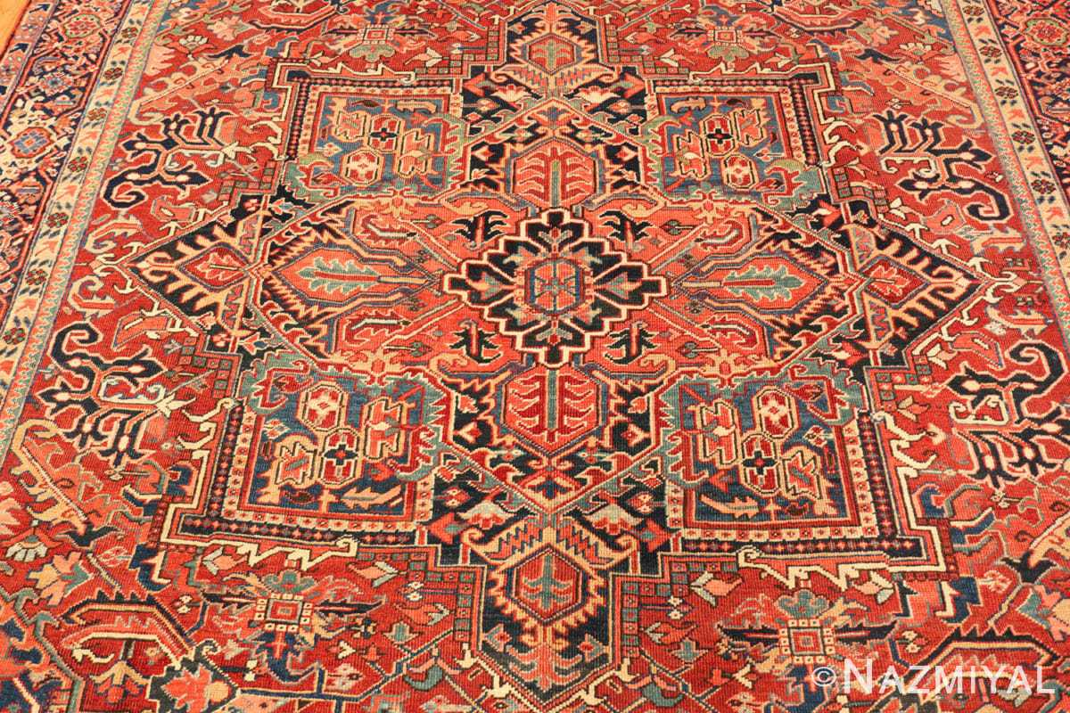 Field Antique Persian Heriz rug 47297 by Nazmiyal