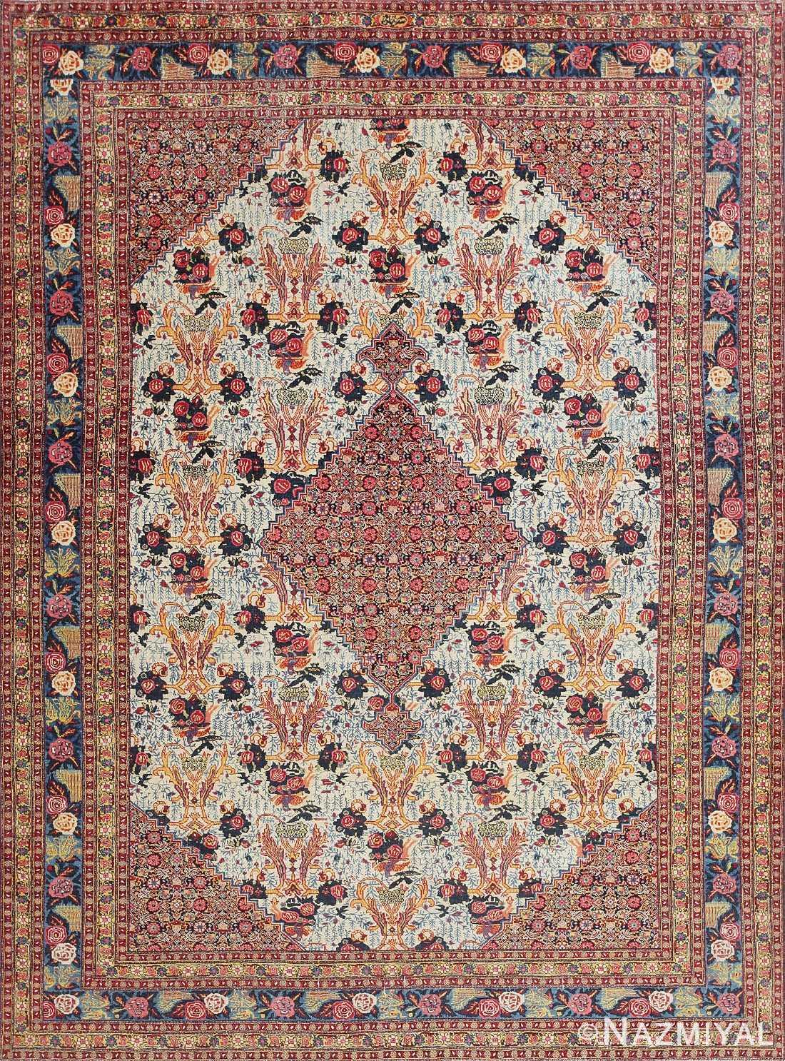 Fine Antique Persian Tabriz Carpet 47458 Detail/Large View
