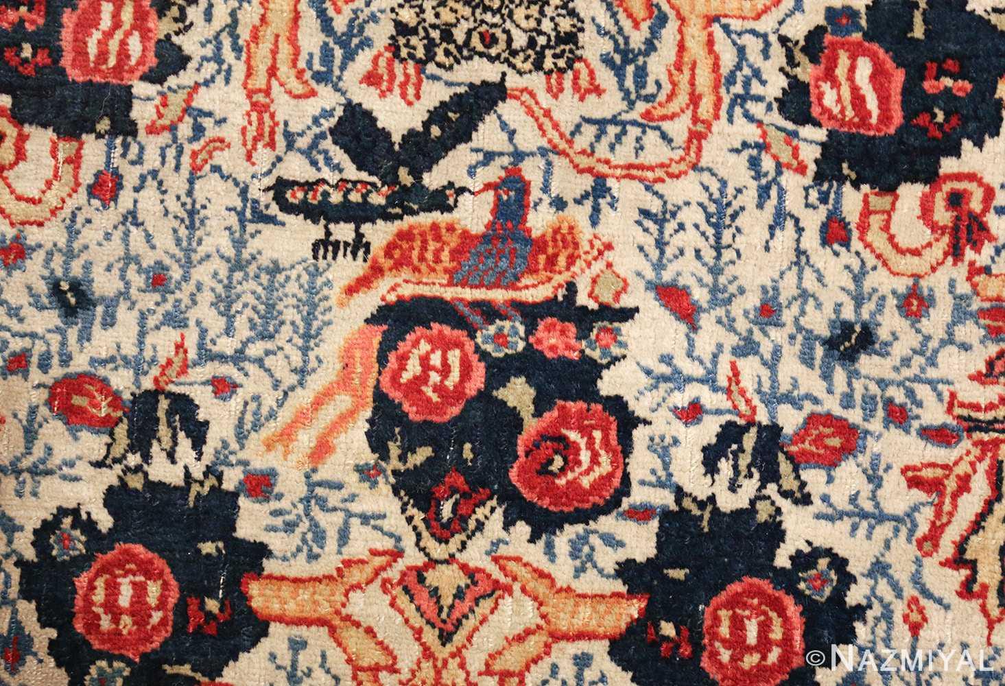 fine antique persian tabriz rug 47458 birds Nazmiyal