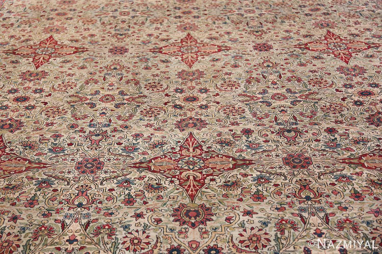 Fine Square Antique Persian Kerman Lavar Rug 47429 Field Design Nazmiyal
