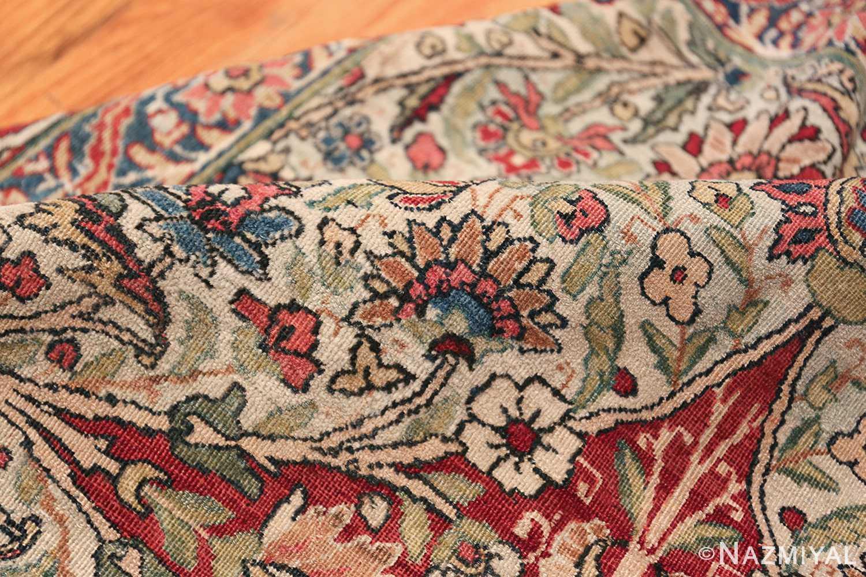 Fine Square Antique Persian Kerman Lavar Rug 47429 Floral Pile Nazmiyal