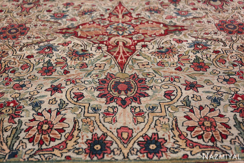 Fine Square Antique Persian Kerman Lavar Rug 47429 Lower Tiara Nazmiyal