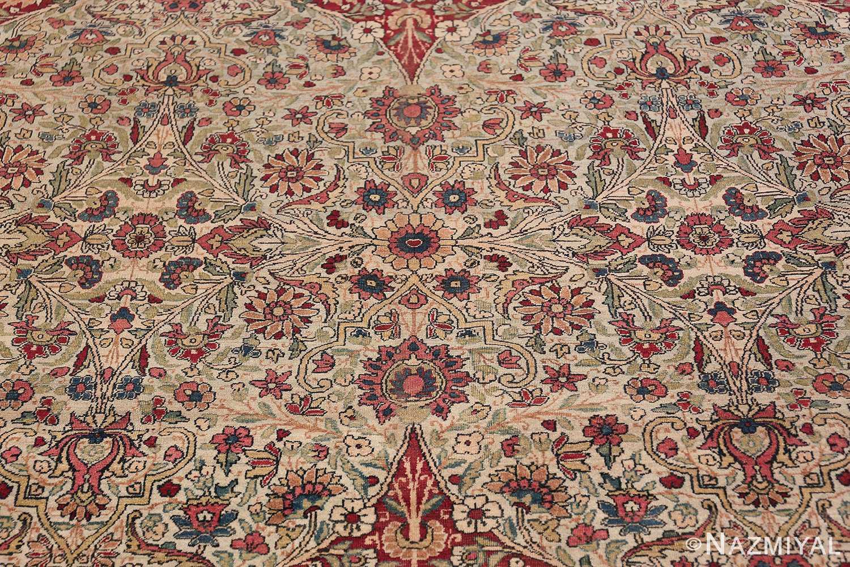 Fine Square Antique Persian Kerman Lavar Rug 47429 Pattern Inside Field Nazmiyal