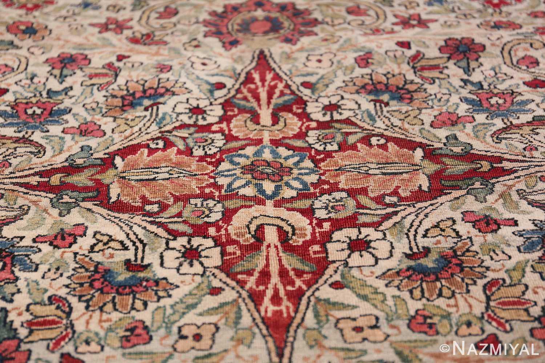 Fine Square Antique Persian Kerman Lavar Rug 47429 Red Diamond Nazmiyal