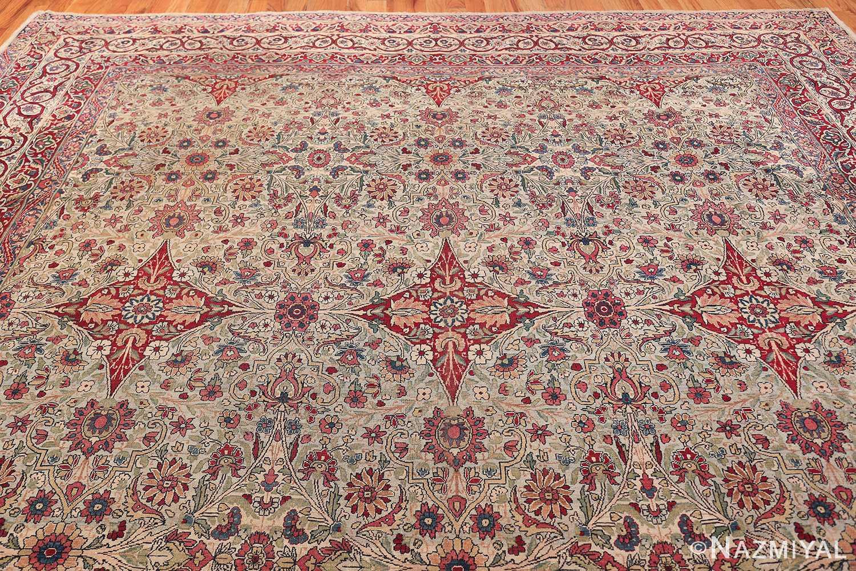 Fine Square Antique Persian Kerman Lavar Rug 47429 Top Design Nazmiyal