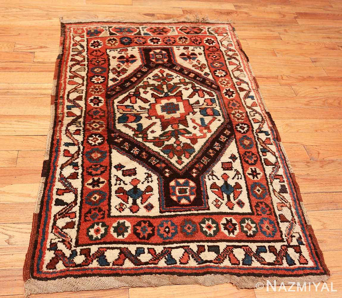 Full Antique Persian Tribal Kurdish rug 47448 by Nazmiyal