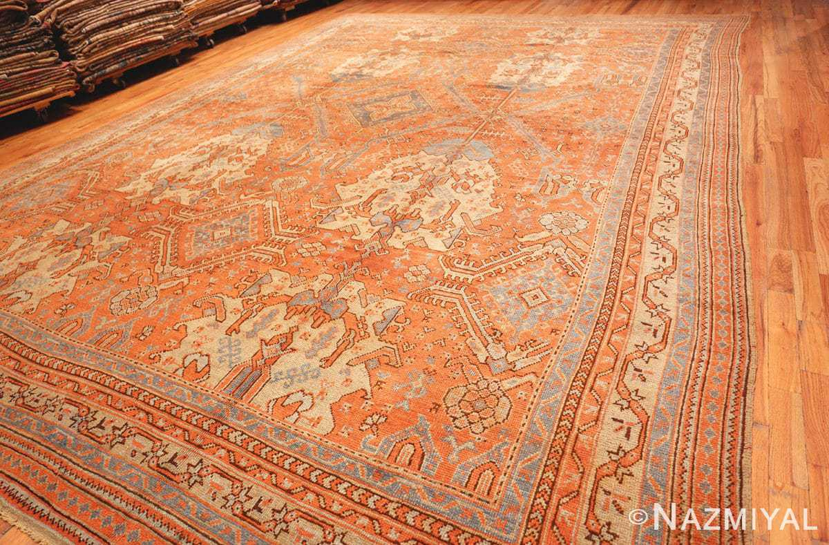Full Large Antique Turkish Oushak rug 47426 by Nazmiyal