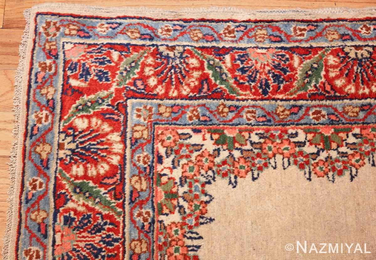 ivory gallery size vintage persian mahal carpet 47298 corner Nazmiyal
