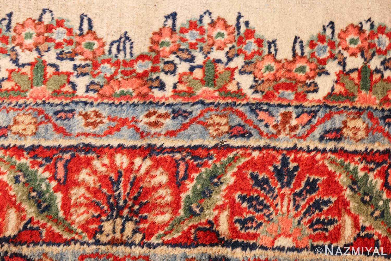 ivory gallery size vintage persian mahal carpet 47298 design Nazmiyal