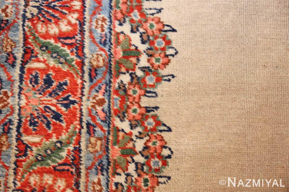 ivory gallery size vintage persian mahal carpet 47298 side Nazmiyal