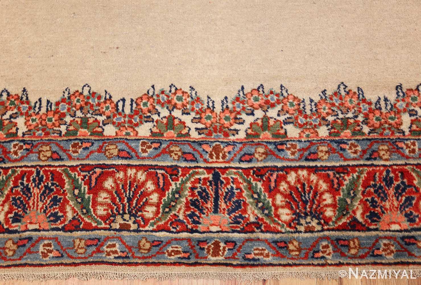 ivory gallery size vintage persian mahal carpet 47298 top Nazmiyal