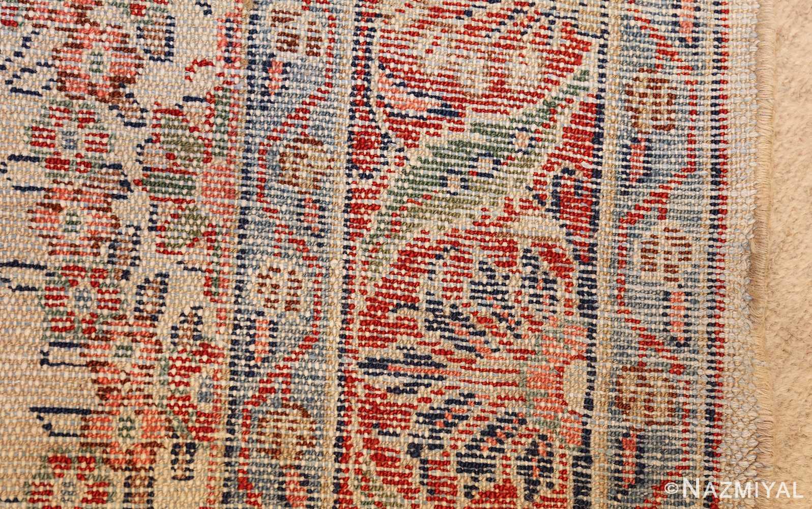 ivory gallery size vintage persian mahal carpet 47298 weave Nazmiyal