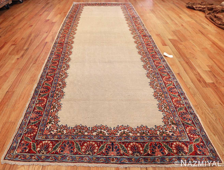 ivory gallery size vintage persian mahal carpet 47298 whole Nazmiyal