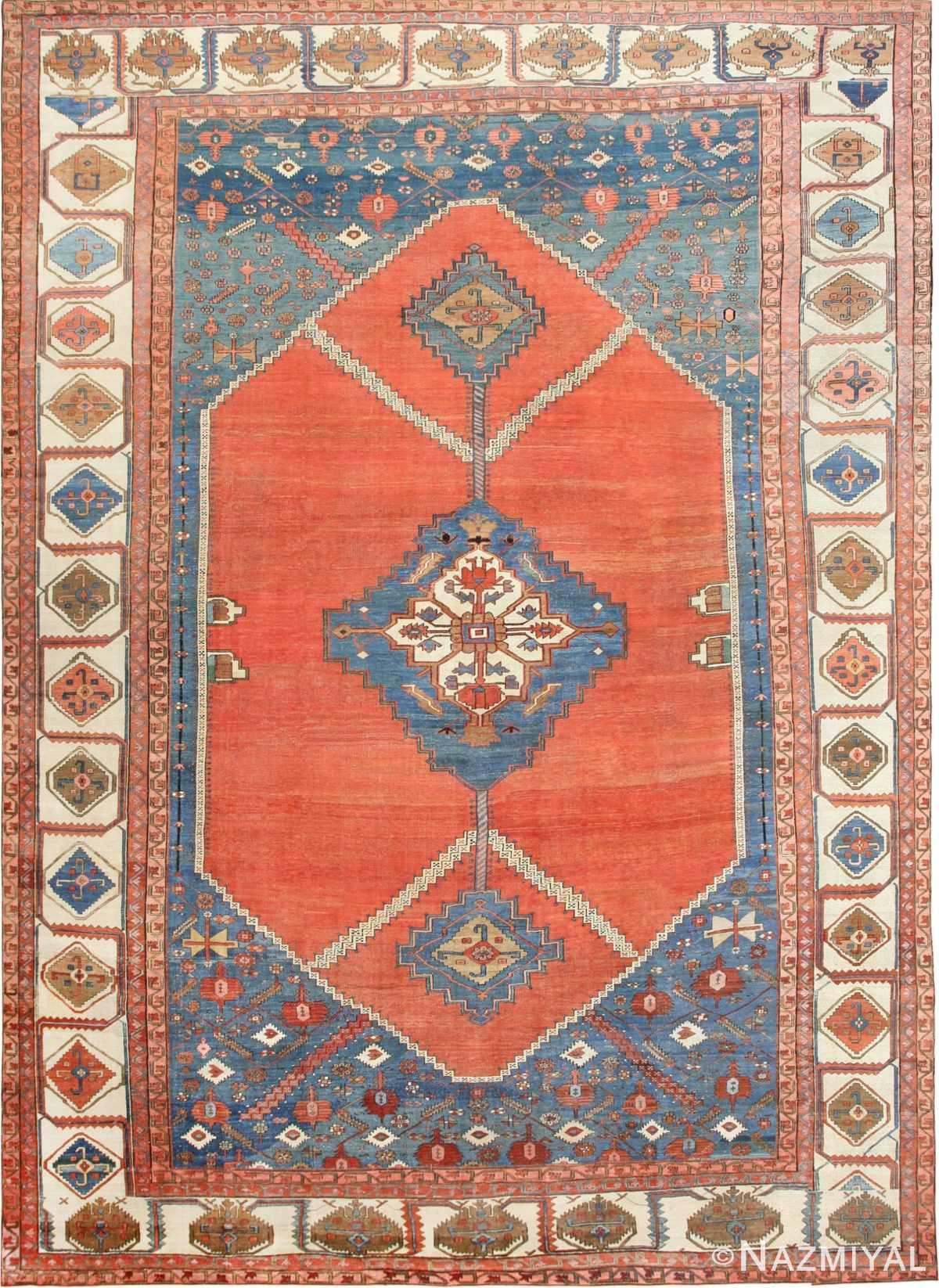 Large Antique Persian Bakshaish Carpet 47431 Detail/Large View