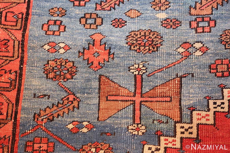 large geometric antique persian bakshaish carpet 47431 closeup Nazmiyal