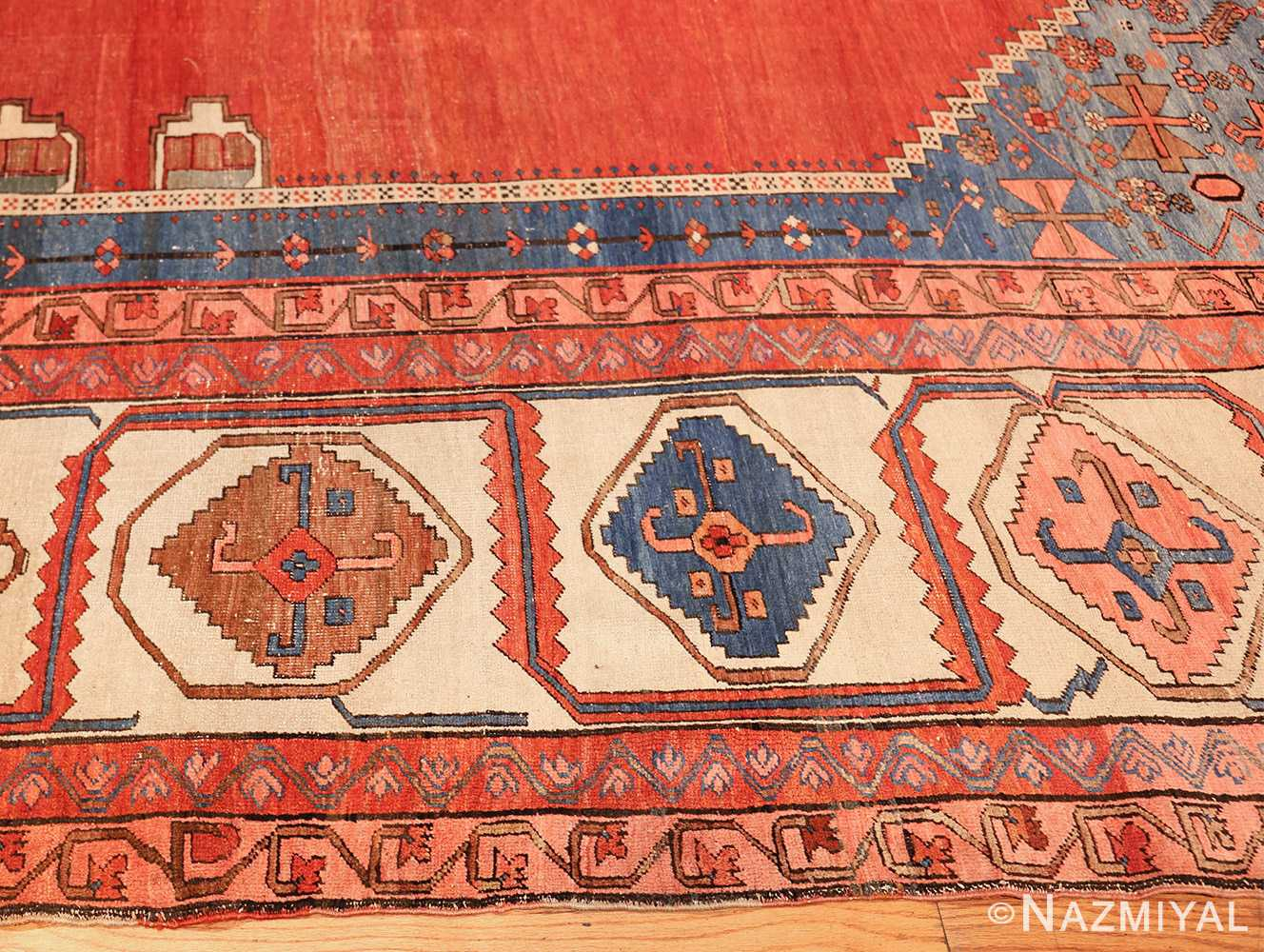 large geometric antique persian bakshaish carpet 47431 side Nazmiyal
