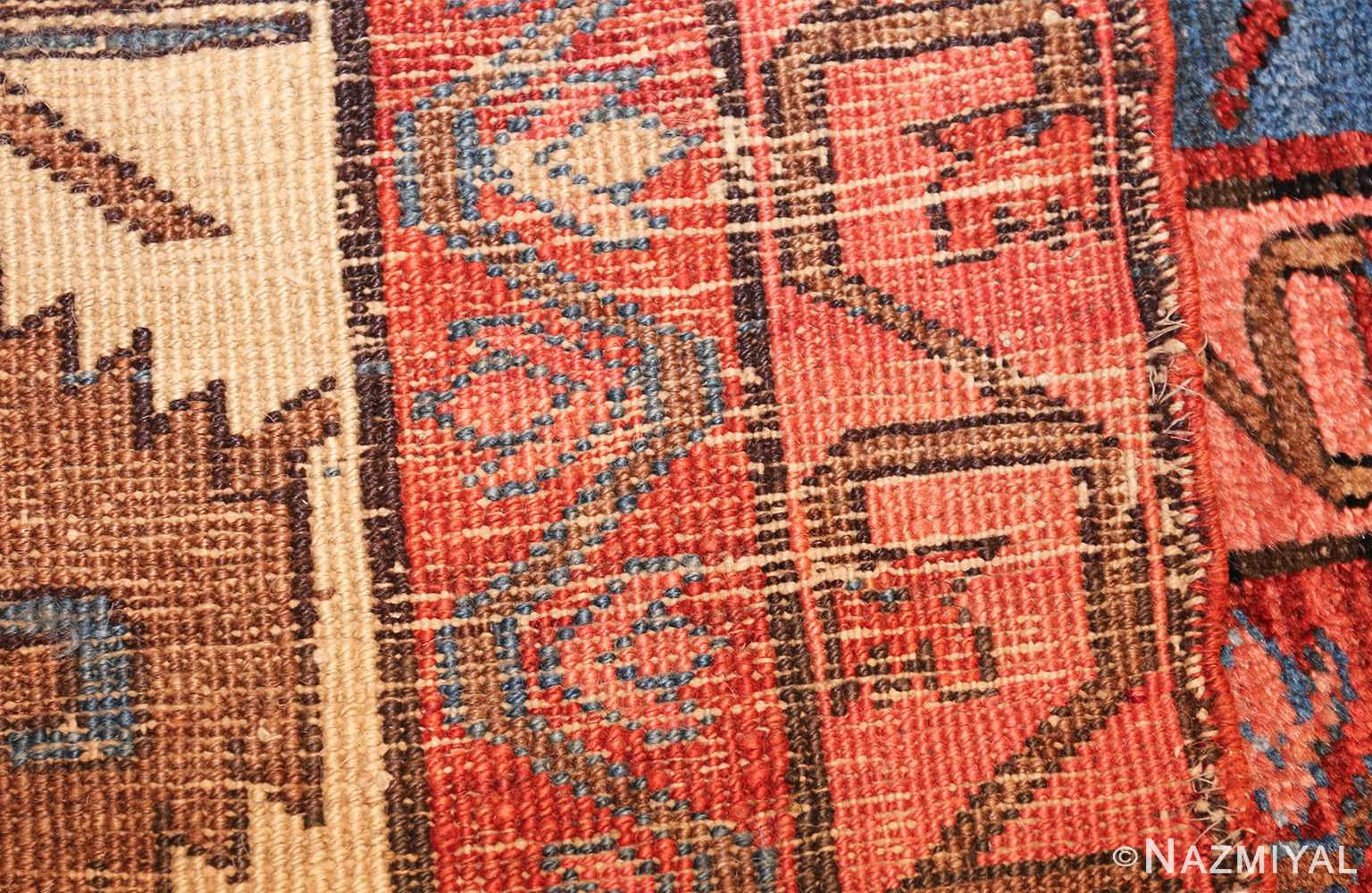 large geometric antique persian bakshaish carpet 47431 weave Nazmiyal