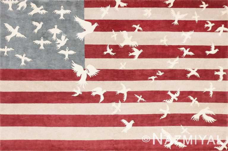 Luke Irwin Doves and Stripes Art Carpet 47404 Large Image