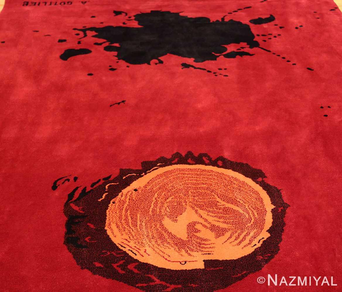 mid century modernist carpet by artist adolph gottlieb 47408 lightside Nazmiyal