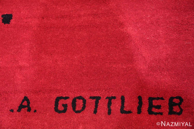mid century modernist carpet by artist adolph gottlieb 47408 signature Nazmiyal