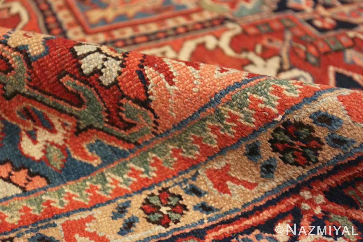Pile Antique Persian Heriz rug 47297 by Nazmiyal