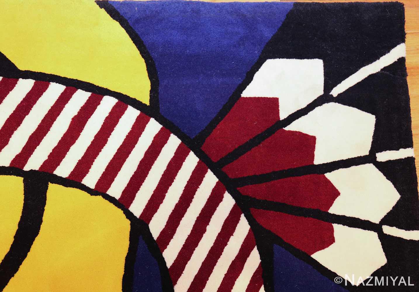 pop art rug by roy lichtenstein 47406 corner Nazmiyal