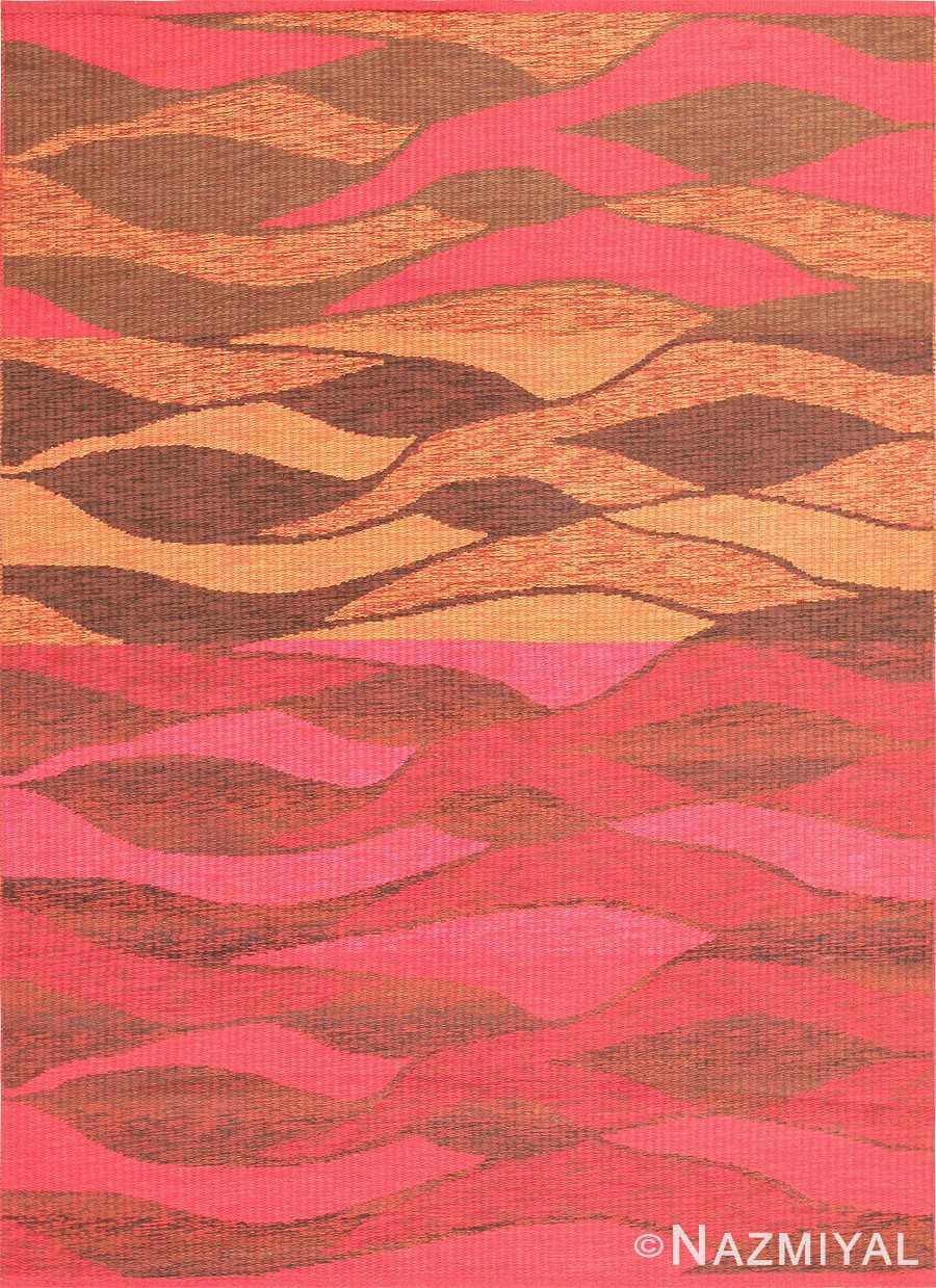 Vintage Doublesided Swedish Kilim Carpet 47387 Nazmiyal