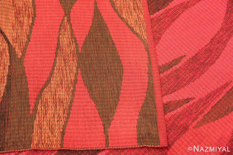 Vintage Swedish Double Sided Rug 47387 Knots Woven Nazmiyal