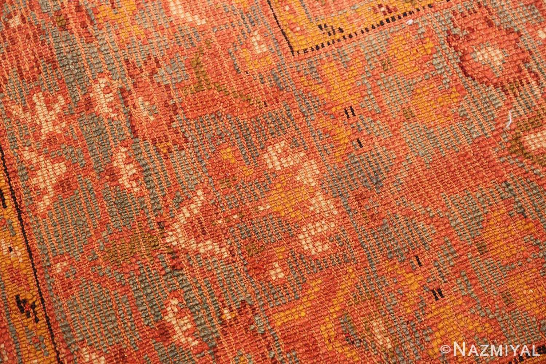 vintage turkish oushak carpet 47401 weave Nazmiyal