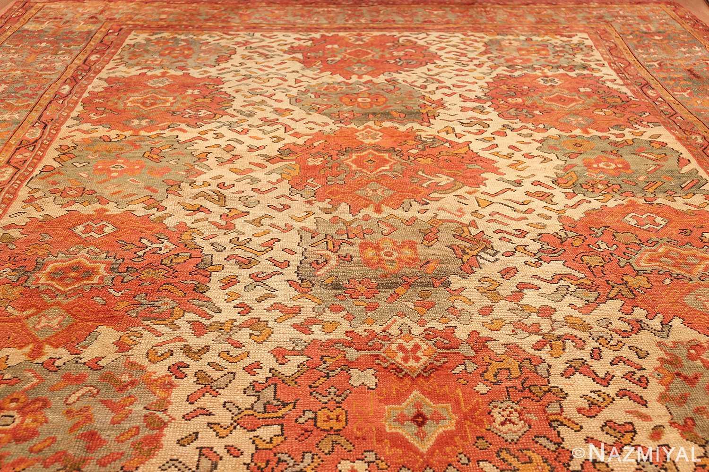 vintage turkish oushak carpet 47401 whole Nazmiyal