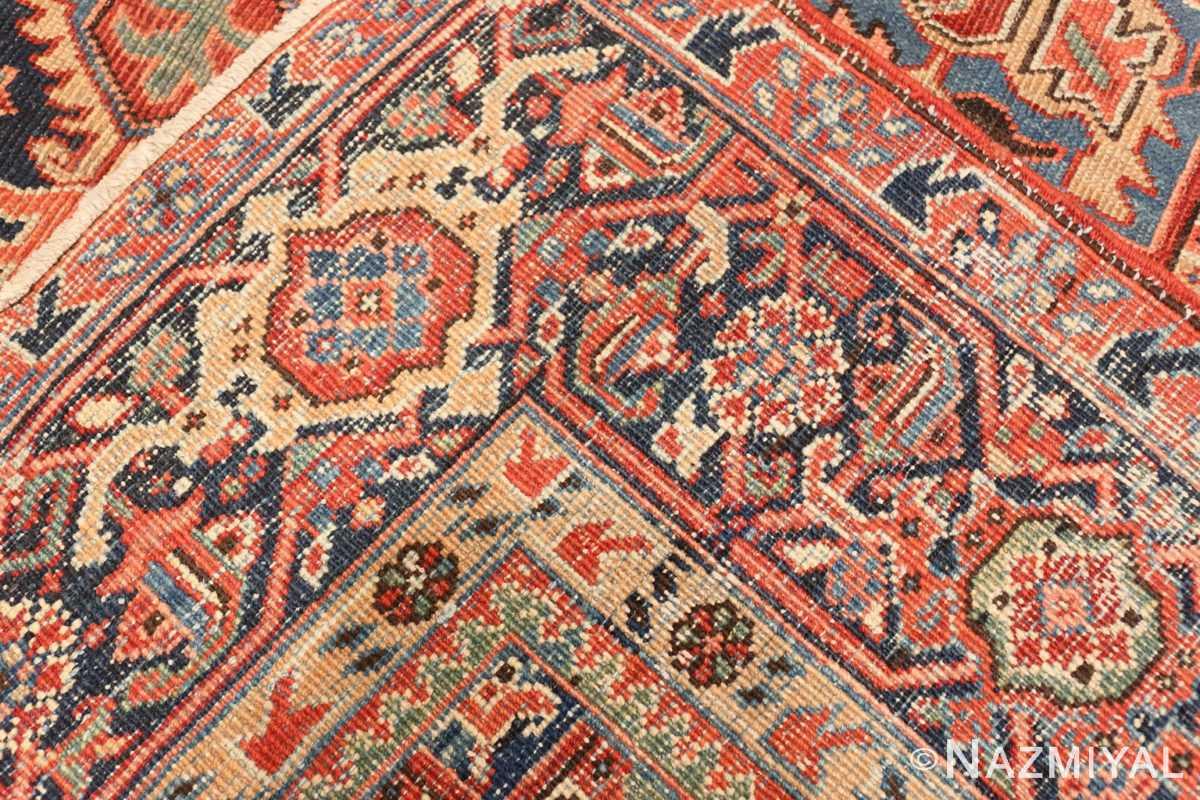 Weave detail Antique Persian Heriz rug 47297 by Nazmiyal