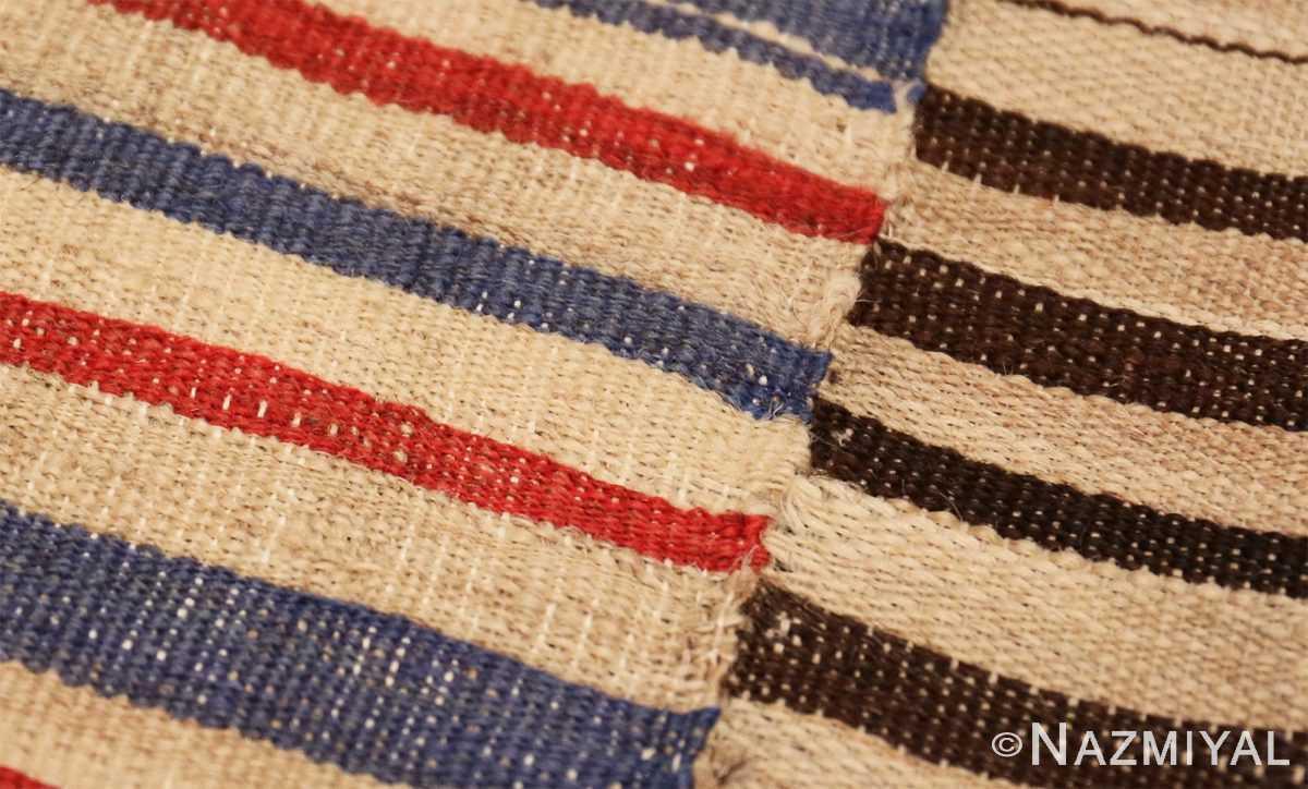Weave detail Antique Persian Mazandaran Kilim 47341 by Nazmiyal