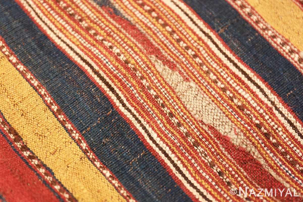Weave detail Antique Persian Mazandaran Kilim 47354 by Nazmiyal