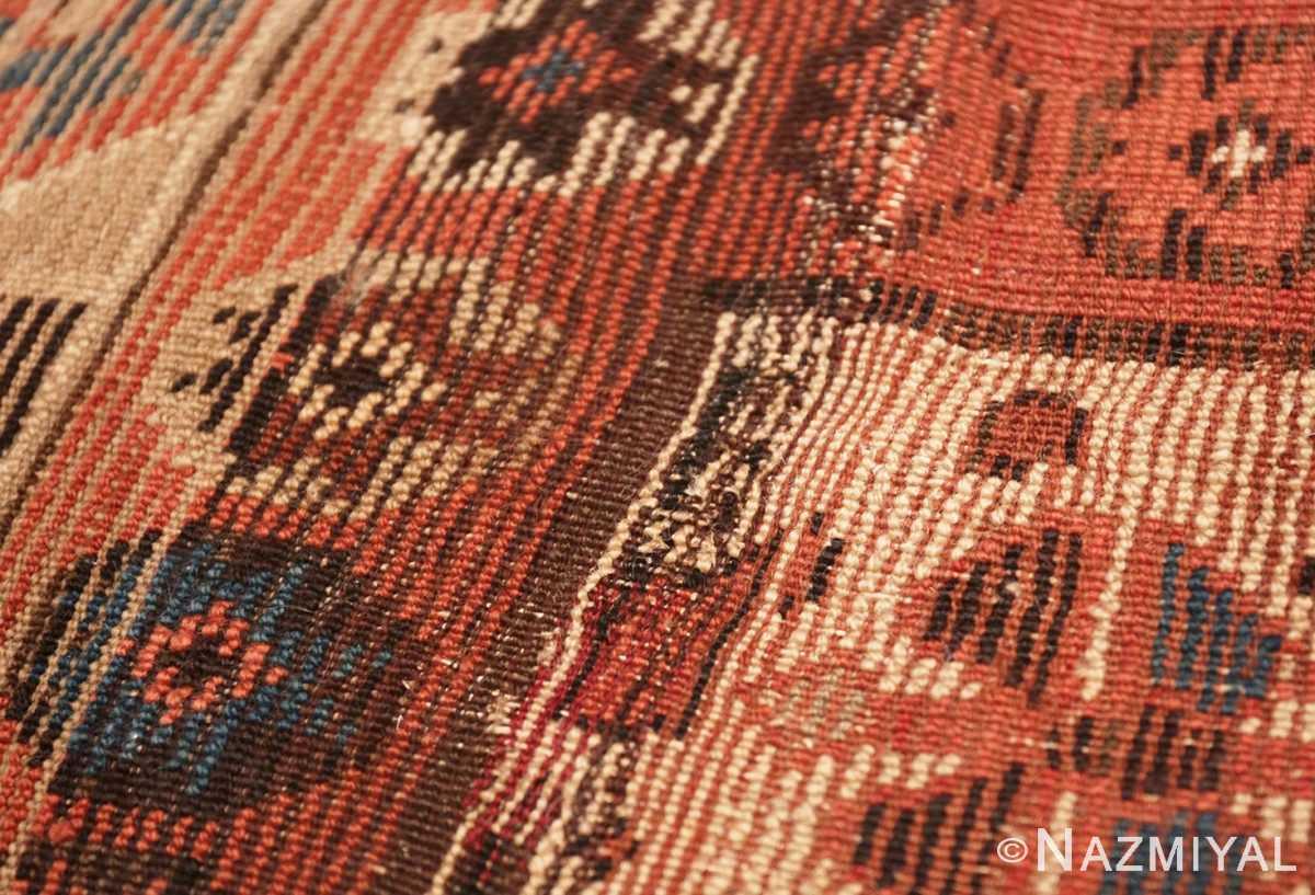 Weave detail Antique Persian Tribal Kurdish rug 47448 by Nazmiyal