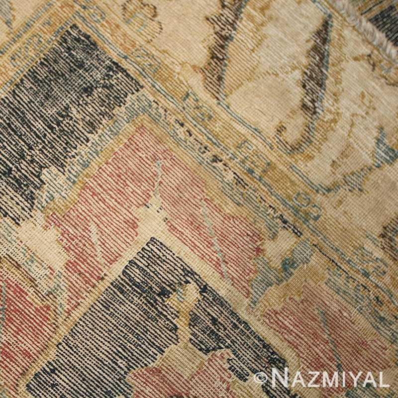 Picture of the weave of antique 17th century Persian Isfahan Carpet #44889 From Nazmiyal
