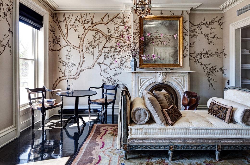 Bedroom Interior Design Roman Williams Antique Aubusson Carpet Nazmiyal