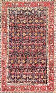 Antique Blue Persian Bidjar Carpet 47360 Detail/Large View
