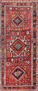 Antique Eagle Design Persian Kurdish Rug 47471 Detail/Large View