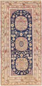 Beautiful Antique Khotan Carpet from East Turkestan 47498 Nazmiyal
