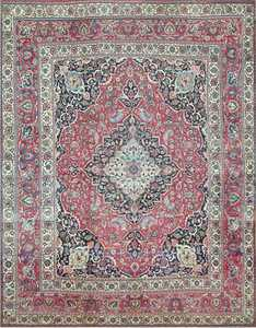 Fine Antique Persian Khorassan Oversized Rug 47521 Detail/Large View